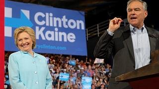 Hillary Clinton steigt mit Tim Kaine ins Rennen