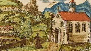 Eine junge Bündnerin blickt hinter die Klostermauern
