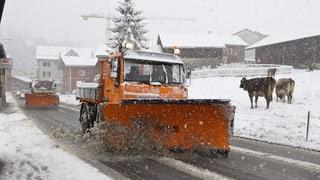 Darf die Gemeinde Schnee auf meinen Grund schieben?