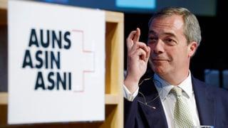 Britischer Rechtspopulist: «Schweiz ist Leuchtturm der Hoffnung»