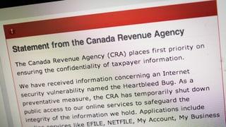 Wegen «Heartbleed»: Kanadas Steuerbehörde geht offline
