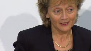 Eveline Widmer-Schlumpf tritt auf Ende Jahr zurück (Artikel enthält Video)