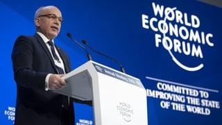 Bundespräsident Ueli Maurer hat das WEF eröffnet  (Artikel enthält Video)