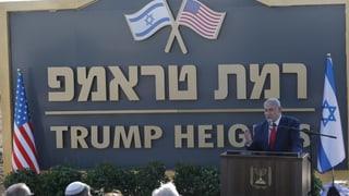 Israel benennt neue Siedlung nach Trump