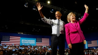 Obama spielt Cheerleader für Clinton