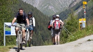 Viandants vs. ciclists – la situaziun en il GR