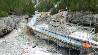Grossbaustelle, um 60 Meter Bach zu reinigen