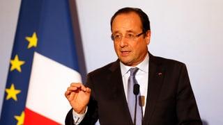 Hollande: «Die Intervention wird rasch und kurz sein»