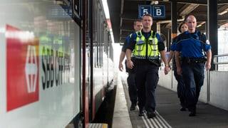 Weniger Gewalt in Schweizer Zügen