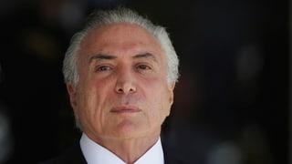 Brasiliens Präsident Temer wegen Korruption angeklagt