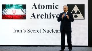 Israels Premierminister Benjamin Netanjahu präsentiert angebliche Beweise für Geheimarchiv