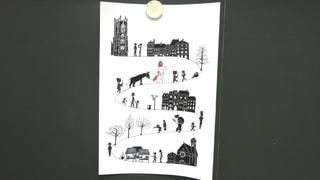 Ein Verkaufshit: Die Freiburger St. Nikolaus Postkarte