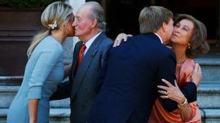 Willem-Alexander und Máxima bringen Juan Carlos zum Strahlen