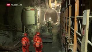 Tunnel Alvra: Tras la «Raibler – Rauwacke» cun agid da glatsch