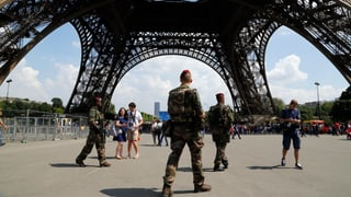 Damain turists visitan Paris