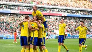 Schweden und Mexiko im Achtelfinal