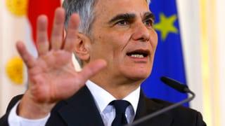 Österreichs Kanzler rechtfertigt Einreise-Beschränkung
