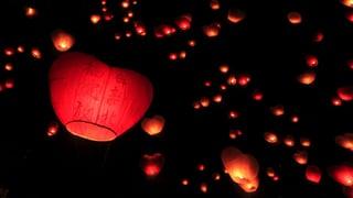 Wenn am chinesischen Neujahr Valentinsherzen zum Himmel steigen