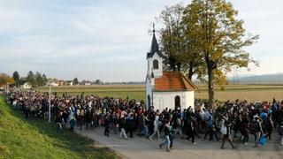 Über 12'000 Flüchtlinge in Slowenien