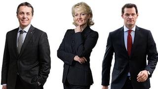 Cassis, Moret oder Maudet stehen der FDP offiziell zur Auswahl