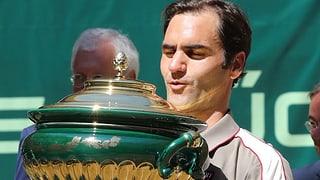 Federer macht die «10» in Halle perfekt (Artikel enthält Video)