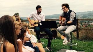 Marc Sway und Manuel Burkart: Tauf-Ständchen für den Sohnemann