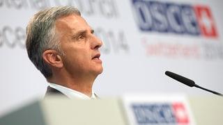 Burkhalter: «Die OSZE braucht bewaffnete Friedenstruppen»