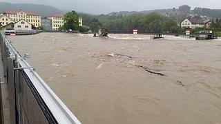 Hochwasser an Emme, Aare, Rhein und Reuss