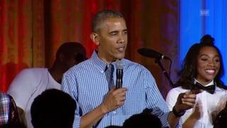 Papa Obama singt «Happy Birthday»