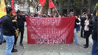 Hunderte demonstrieren in Zürich nach Anschlägen in der Türkei