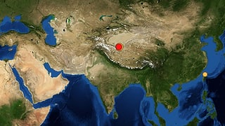 Erdbeben der Stärke 7,3 in China