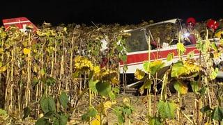 Vier Verletzte bei einem Flugzeug-Absturz nahe Schaffhausen