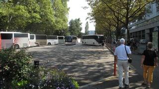 Marschhalt beim «Inseli» in Luzern