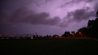 So zuckten die Blitze über Kreuzlingen
