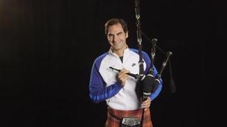 Roger Federer im Schottenrock