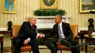 Obama: «Hatte ausgezeichnetes Gespräch mit Trump»