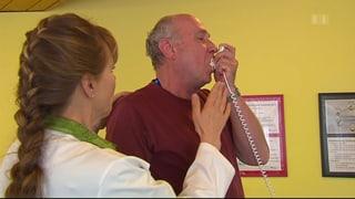 Asthmatiker setzen Inhalator falsch ein
