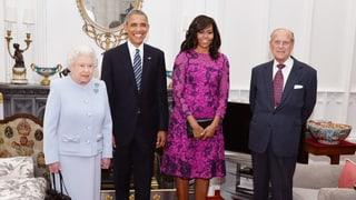 Queen als «Platzanweiserin»: «Obama, stellen Sie sich hier hin»