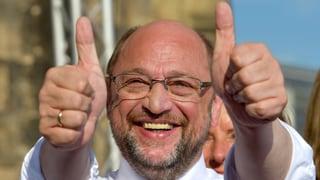 Es sieht schlecht aus für den SPD-Herausforderer. Doch aufgeben will Schulz noch lange nicht.