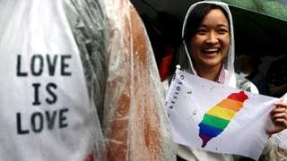 Erstes asiatisches Land führt Homo-Ehe ein