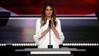 Redenschreiberin von Melania Trump gibt Fehler zu