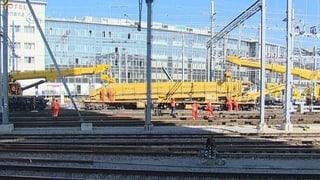 Verkehr im Bahnhof Winterthur bis Montagmorgen gestört