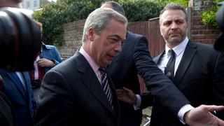 Ukip-Chef Nigel Farage tritt zurück
