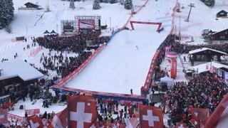 Las cursas dad Adelboden attiran millis fans