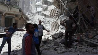 Bombenhagel auf Aleppo