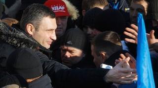 Klitschko fordert Demonstranten zum Durchhalten auf