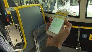 Postauto fahren mit dem E-Ticket