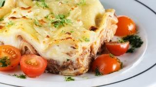 Keine Rossfleisch-Lasagne auf dem Tisch