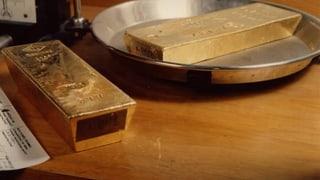 Der Goldpreis sinkt und sinkt
