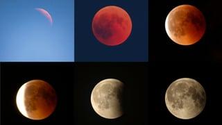 Letzten Sommer dauerte die Mondfinsternis 1 Stunde 43 Minuten